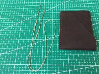 Компактный бумажник из кожи своими руками