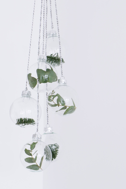 Декор прозрачных новогодних шаров своими руками