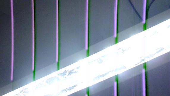 Светильник на светодиодах из подручных материалов.