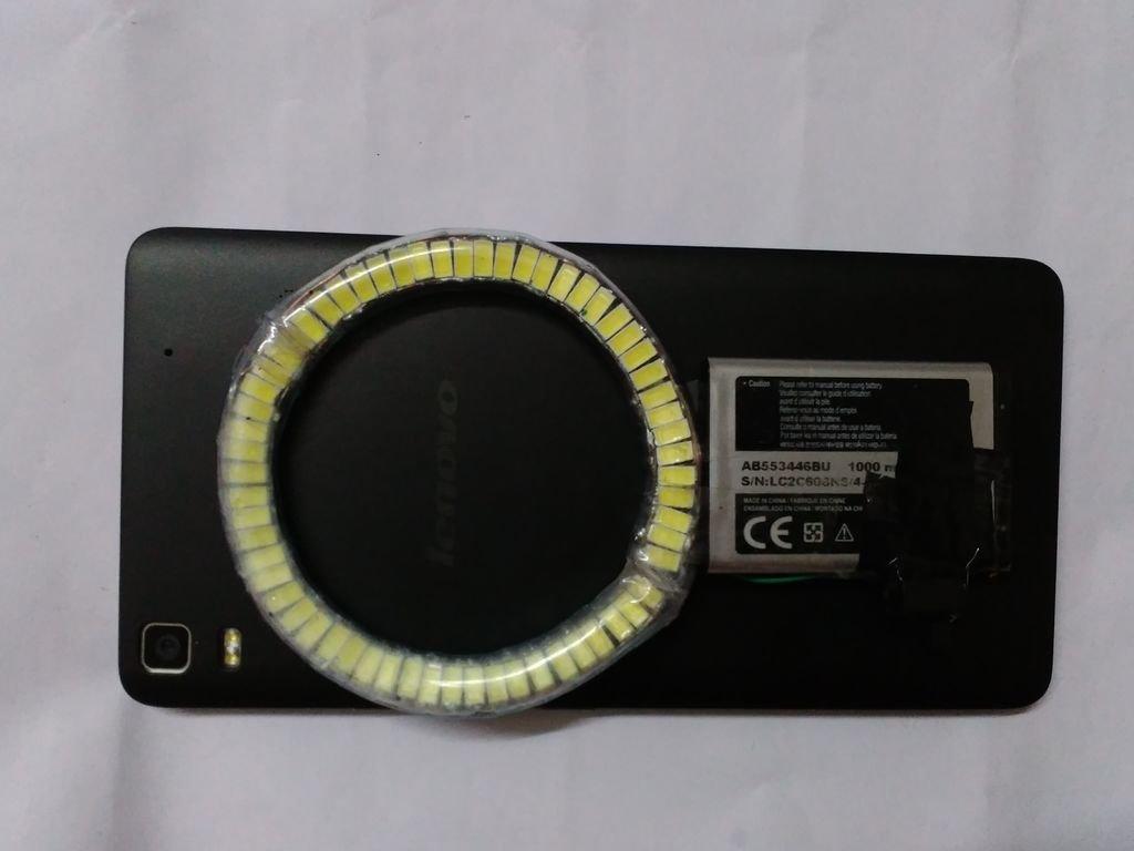 Кольцевая вспышка для смартфона своими руками