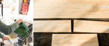 Подставка для ножей из натурального дерева