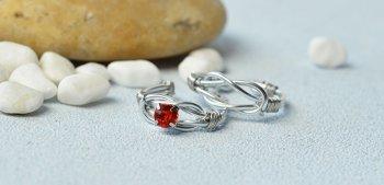 Кольца из серебряной проволоки своими руками