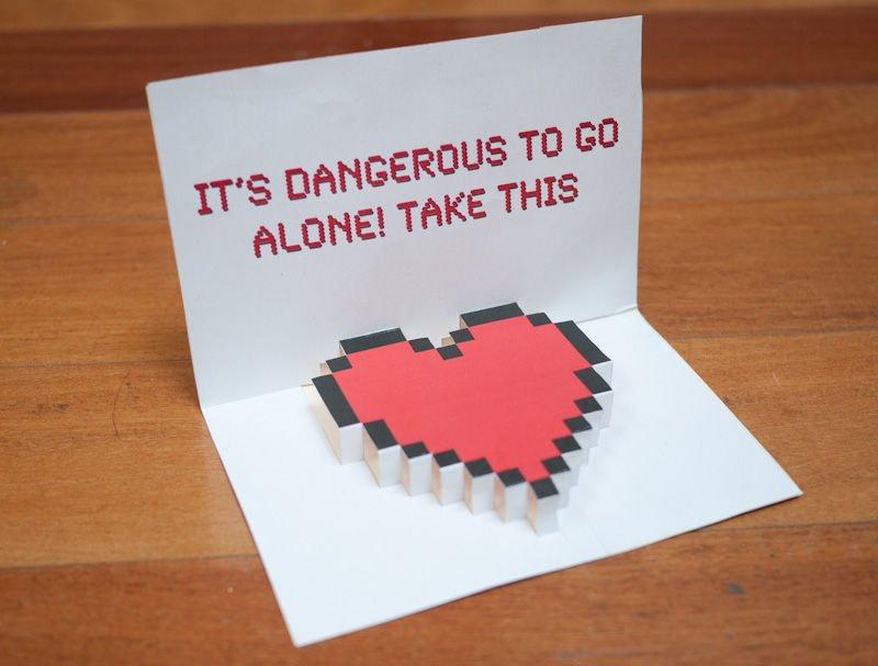 Объемная открытка ко Дню Святого Валентина своими руками