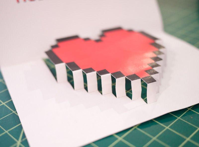 Загадками, как сделать открытку раскладушку своими руками в форме сердца