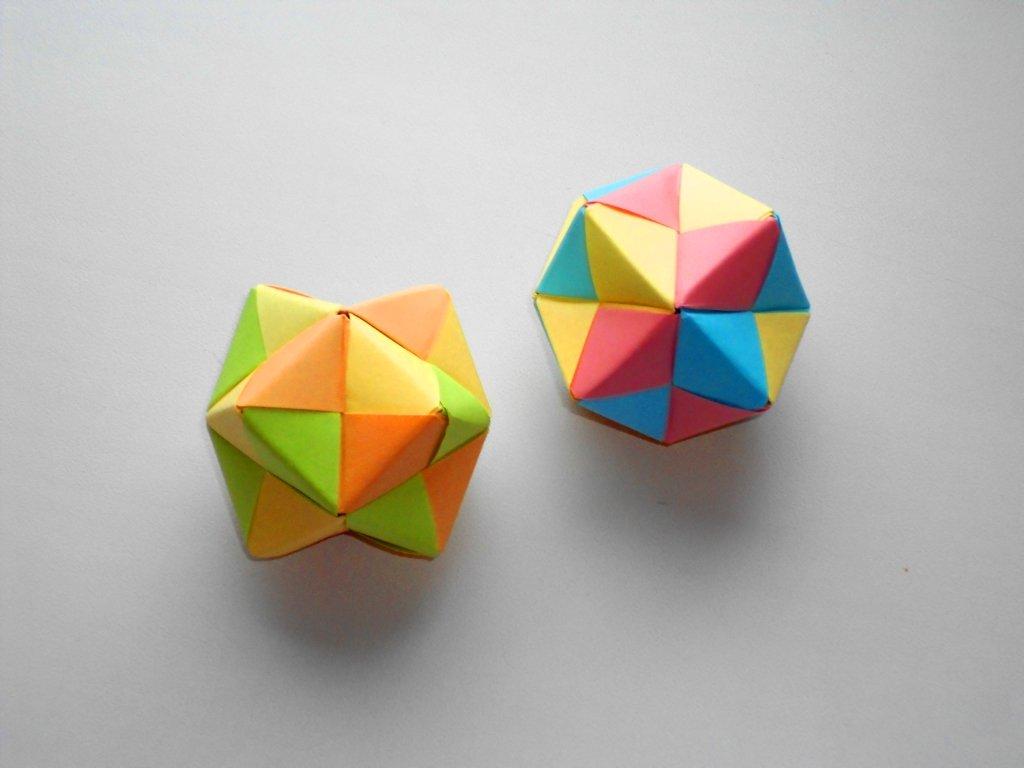 Оригами многогранник из бумаги