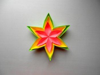 Цветок из бумаги Оригами поделки для детей