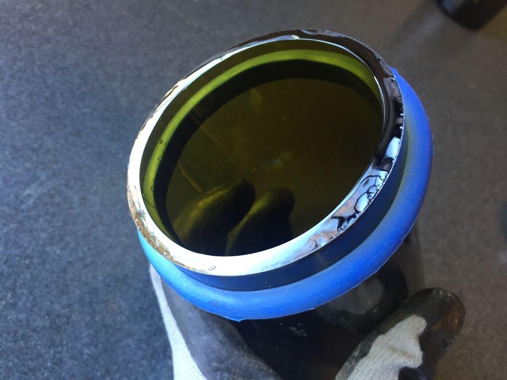 Стеклянный браслет, подсвечник и вазочка из одной бутылки
