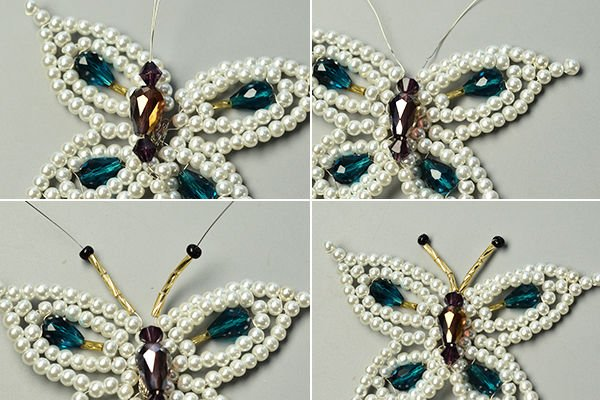 Брошь-бабочка из бисера своими руками