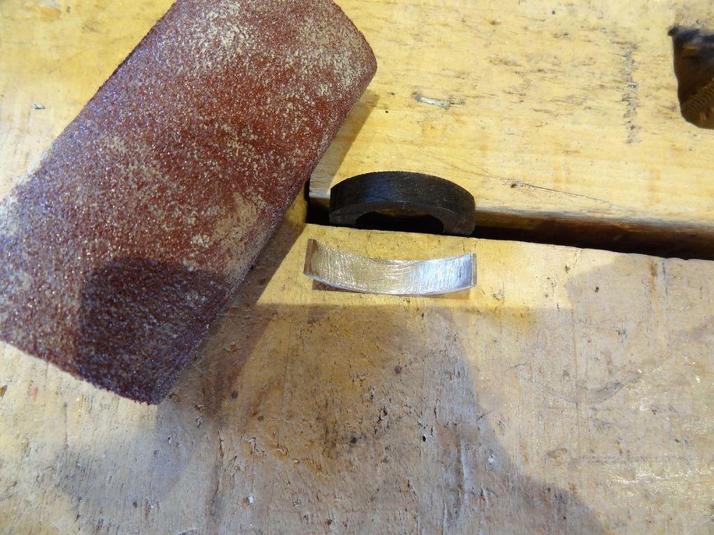 Деревянные кольца с пластинами меди и серебра своими руками