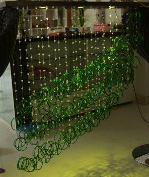 Светодиодная люстра со стеклянными подвесками
