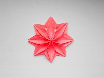 Оригами поделка для декорирования подарков в виде цветка