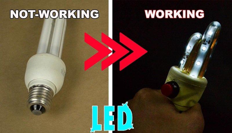 Как починить нерабочую лампочку