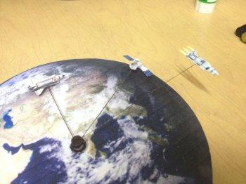 Часы настенные в тематике космос своими руками