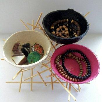 Что сделать из кокоса: чаши,  вазоны,  вазочки и кормушки
