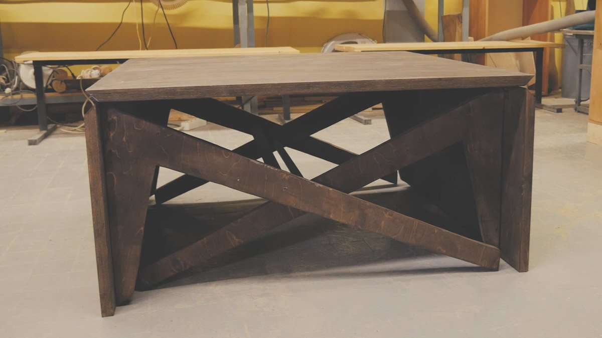 Раскладной стол из фанеры своими руками