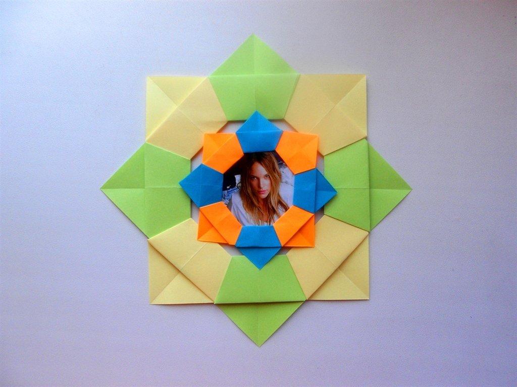 Оригами рамка для фото из бумаги