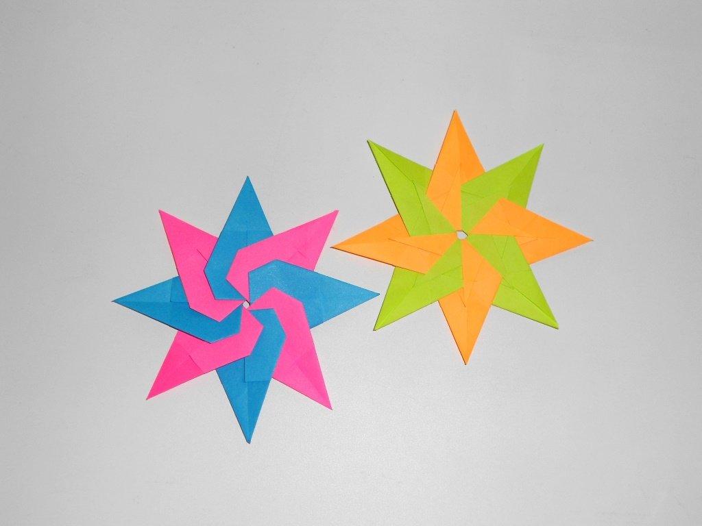 Модульная звезда из бумаги