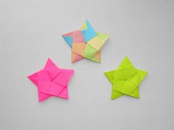 Модульная звезда из бумаги простая поделка