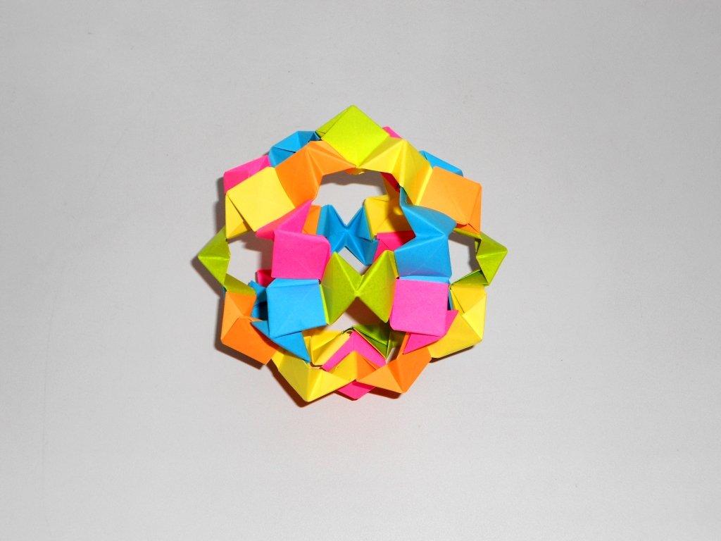 Оригами 3D шар из бумаги. Кусудама звезда