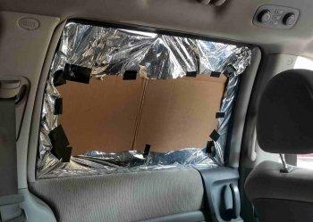 Солнцезащитные вставки для авто из подручных материалов