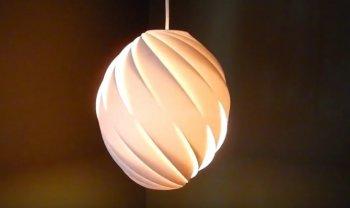 Лампа со спиральным абажуром своими руками