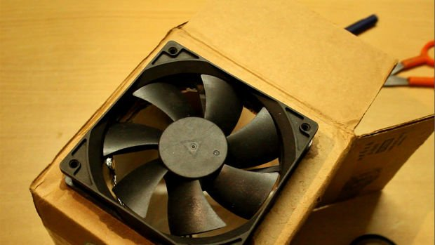 Охлаждающий вентилятор из подручных материалов
