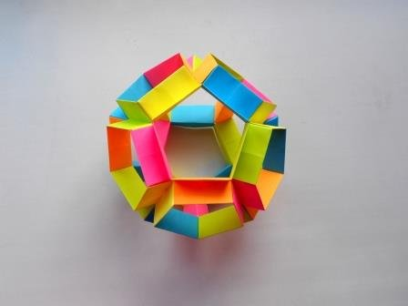 Многогранник додекаэдр из бумаги