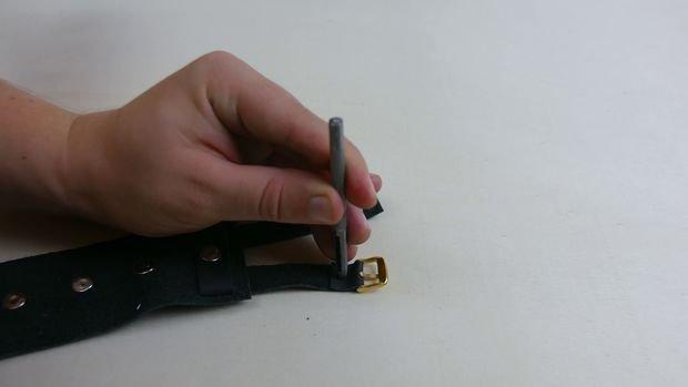 Стильный кожаный мужской браслет своими руками