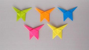 Бабочки из бумаги. Поделки оригами для детей