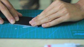 Минималистичный кожаный кошелек своими руками