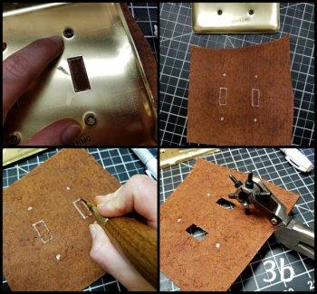 Накладка на выключатель из кожи своими руками