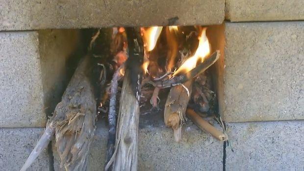 Печь из кирпичей за 5 минут