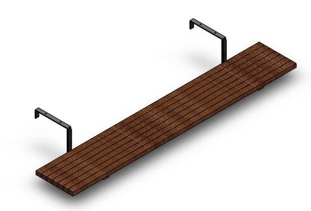 Подвесной балконный столик своими руками