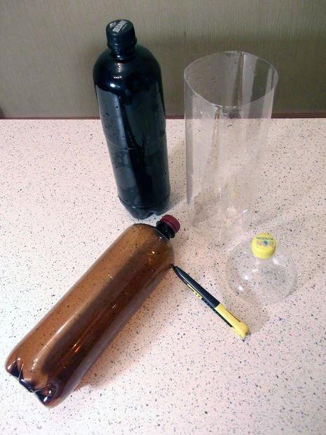 Ваза из пластиковой бутылки своими руками