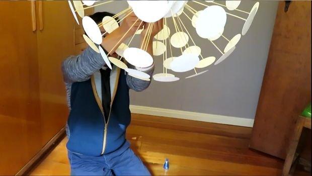 Абажур в стиле IKEA своими руками