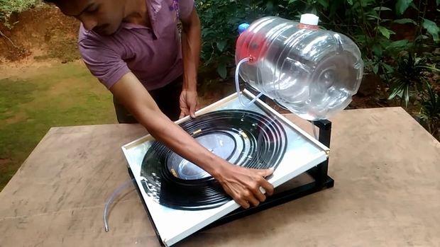 Солнечный водонагреватель своими руками