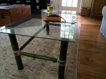 Журнальный бамбуковый столик своими руками