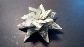 Рождественская звезда из денег своими руками