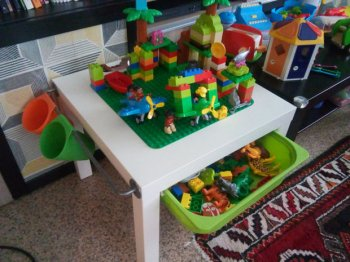 Детский стол для Lego своими руками