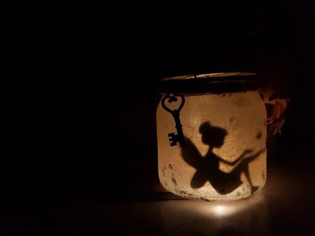 Волшебный фонарик из банки своими руками