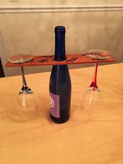 Деревянная подставка для вина и бокалов своими руками