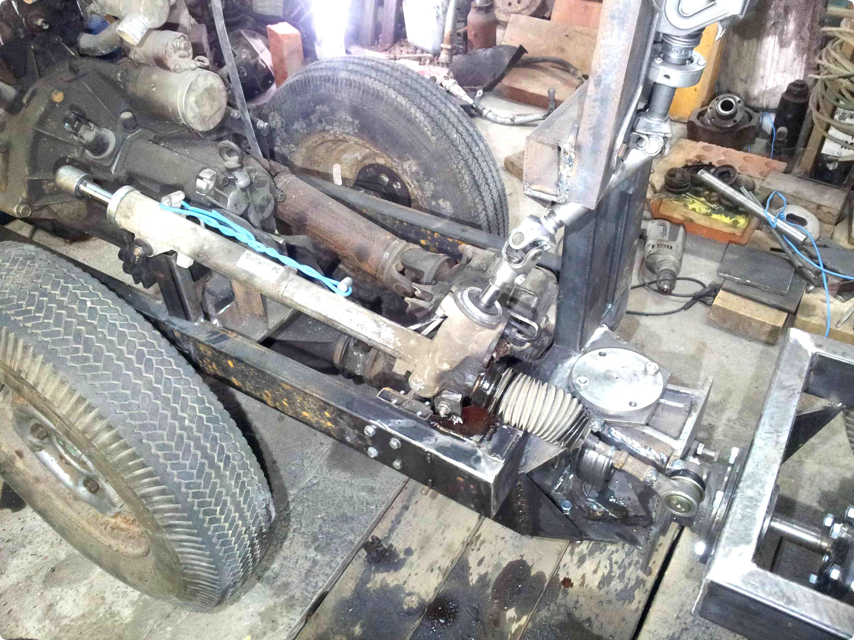 Самодельный трактор переломка 4+4: изготовление своими руками с двигателем от Оки