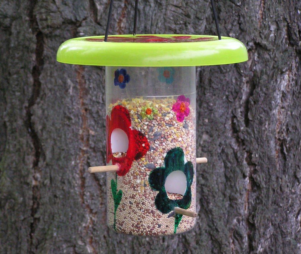 Делаем кормушки для птиц из пластиковых бутылок: фото и видео