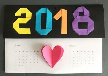 Как сделать календарь своими руками на 2018 год