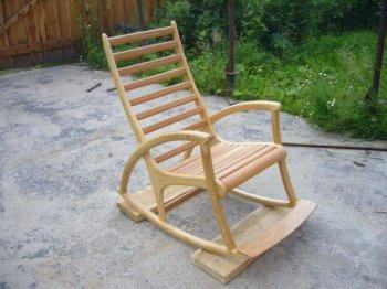 Кресло качалка из дерева своими руками